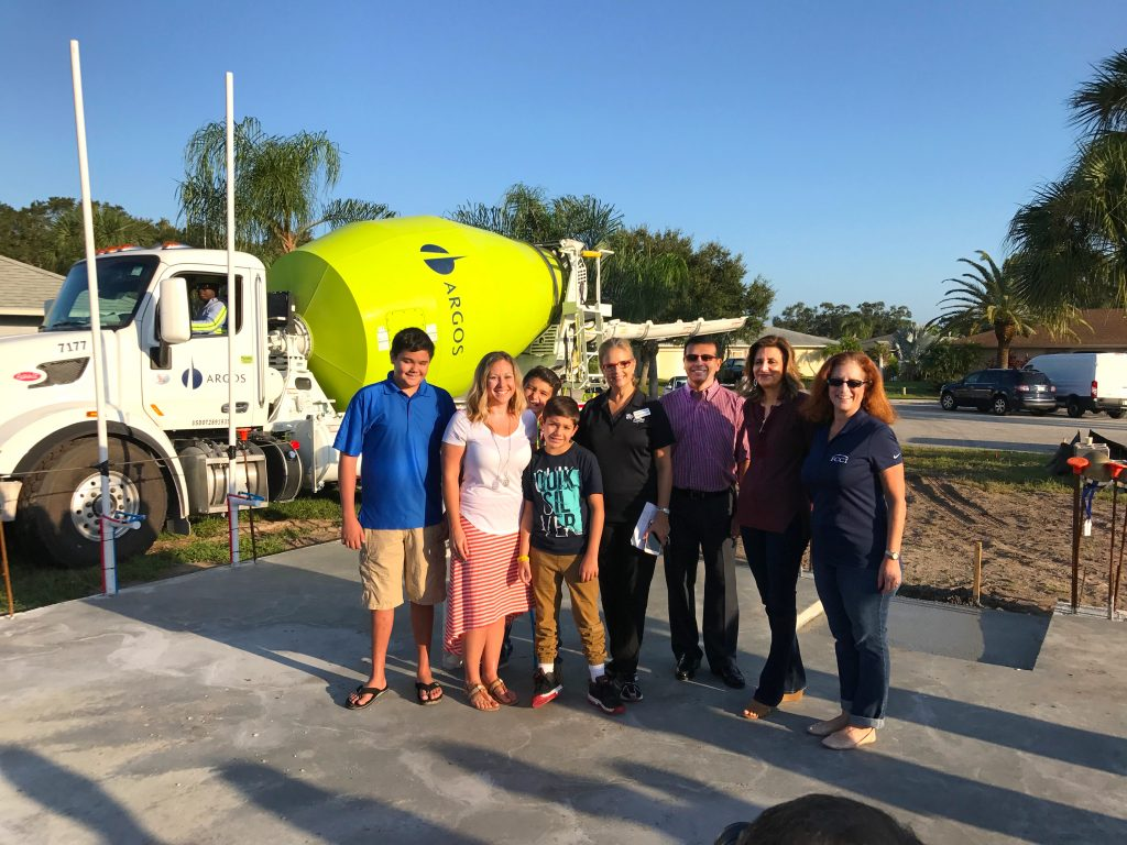 Habitat Sarasota's first slab blessing