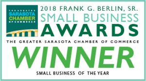 The Greater Sarasota Chamber of Commerce Small Business of the Year WINNER